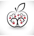 art apple vector image