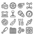 auto repair service icons set on white background vector image vector image