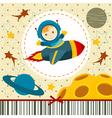 baby boy astronaut vector image vector image