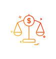 balance finance money scale icon design vector image