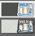 banners for organic milk vector image vector image