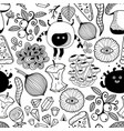 black and white wallpaper for coloring vector image vector image