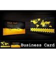 black business card set vector image