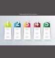 business design template option banners vector image