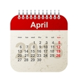 calendar 2015 - april vector image