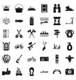 camping adventure icons set simple style vector image vector image