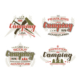 Camping emblems for t shirt vector image vector image