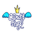 candy shop hand drawn cartoon vector image
