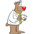 Cartoon Bear Doctor vector image vector image