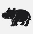 cartoon hippo silhouette isolated on white backgro vector image