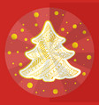 christmas holidays card in chinese origami style vector image vector image