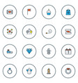 christmas icons colored line set with day 1 vector image vector image