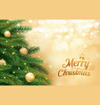 christmas tree with gold blur bokeh lights vector image vector image