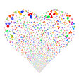 client fireworks heart vector image vector image