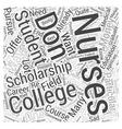 college nursing scholarship Word Cloud Concept vector image vector image