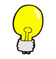 comic cartoon electric light bulb vector image vector image