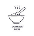 cooking meal line icon outline sign linear vector image vector image