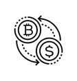cryptocurrency - line design single isolated icon vector image vector image