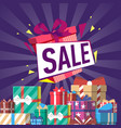 discount gift sales vector image vector image
