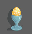 egg easter celebration vector image