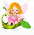 fairy floats on a boat vector image vector image