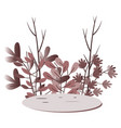 flora flat design elements vector image