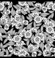 floral seamless pattern black backgroun vector image vector image