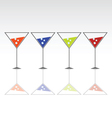four glasses for drink with ice vector image