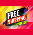 free shipping discount promotional concept vector image