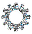 gear wheel mosaic of rotor icons vector image