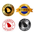 georgia badges gold stamp rubber band circle vector image vector image