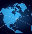globe koncept 2 vector image