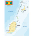 grenada road map with flag vector image vector image