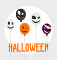 halloween concept background flat style vector image
