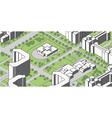 housing estate vector image