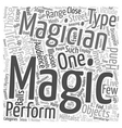 How Did They Do That Types Of Magic Tricks text vector image vector image