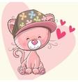 Kitten with cap vector image vector image