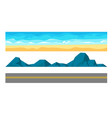 landscape constructor set with ocean beach sand vector image vector image