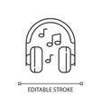 listening to music linear icon vector image