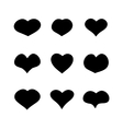 main heart shapes set vector image
