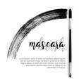 make-up cosmetic mascara brush design vector image vector image