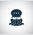 many people opinion icon trendy simple symbol vector image vector image