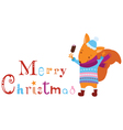 Merry Christmas squirrel vector image vector image