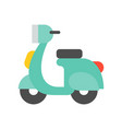 motorbike simple icon flat design vector image