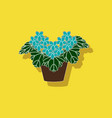paper sticker on stylish background plant vector image vector image
