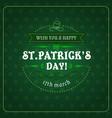 patricks day greetings in frame irish holiday vector image