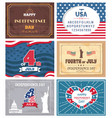 patriotic holiday celebrated on 4th july vector image vector image