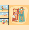 people on beach outdoors summer lifestyle family vector image vector image