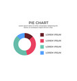 pie chart infographic element vector image