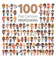 professions flat characters big collection vector image